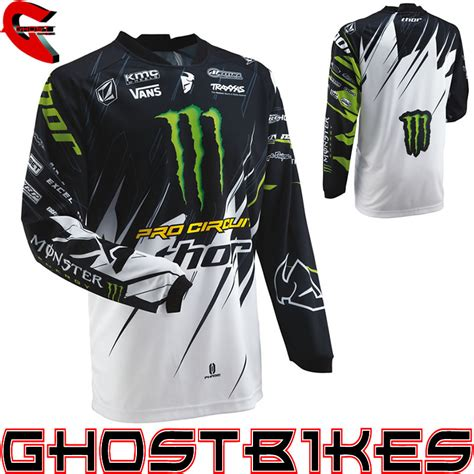 monster jersey motocross thor 2013 phase s13 pro circuit monster energy mx shirt