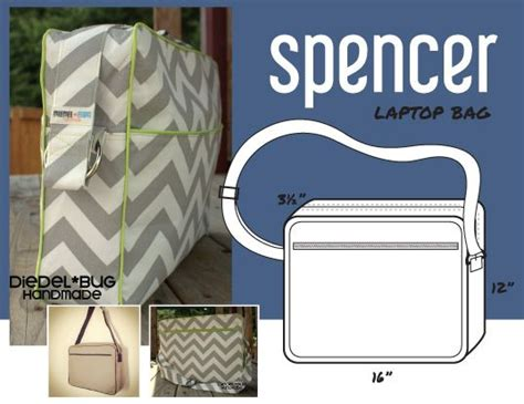 sewing pattern laptop bag the spencer laptop bag pdf sewing pattern