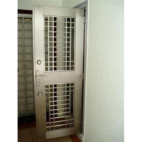 hinged stainless steel safety door rs  square feet aj enterprises id