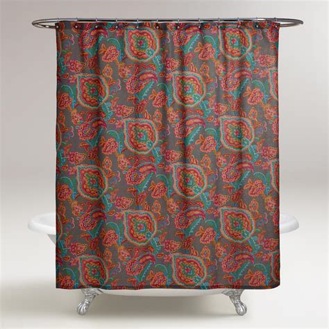 world market shower curtains paisley confetti shower curtain world market