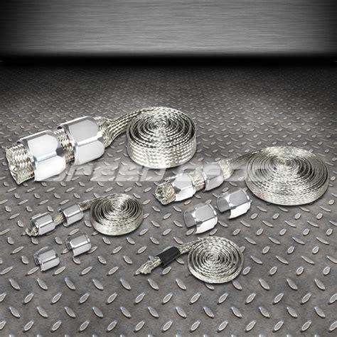 Original Cover Radiator Silver braided stainless steel vacuum fuel radiator line dress up hose cover silver ebay