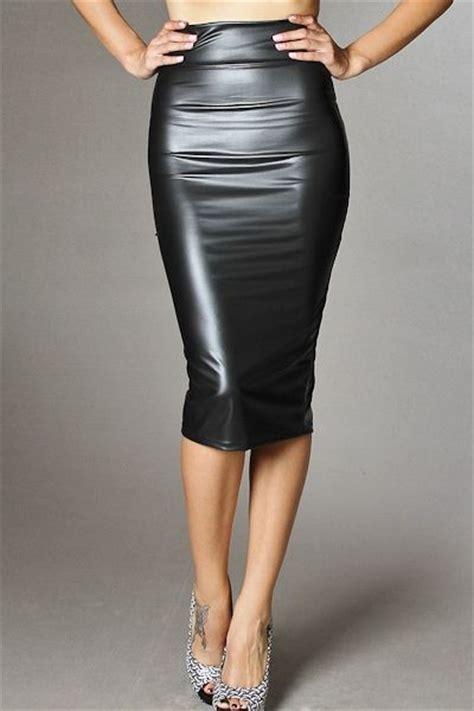 liquid leather pencil skirt aprile s closet