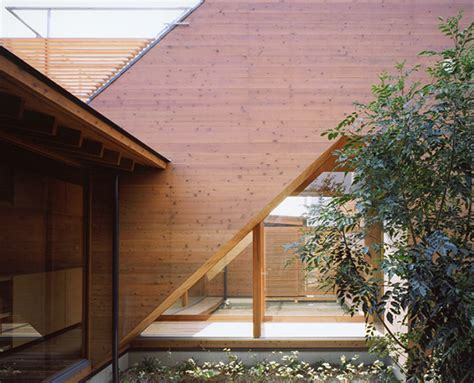 japanese wooden houses courtyard multi level decks