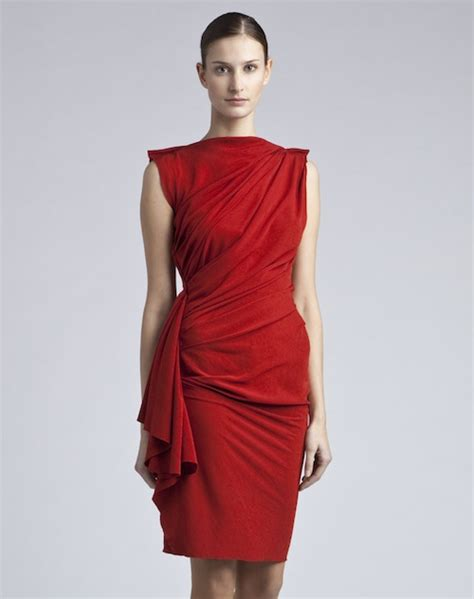 draped red dress jennifer garner wears lanvin draped red dress at the odd