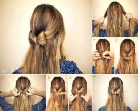step to step hairstyles for medium hairs simple diy braided bun puff hairstyles pictorial