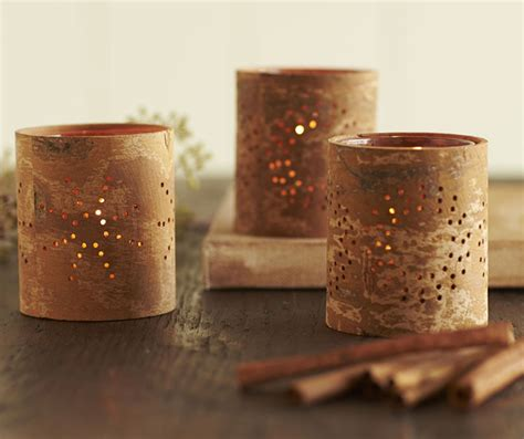 Cool Home Office Decor Aromatic Cinnamon Bark Tealight Candle Holders So That S