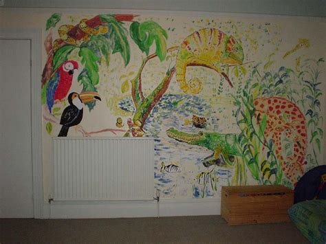 Painted Wall Murals For Kids animal design hand painted wall murals for kids
