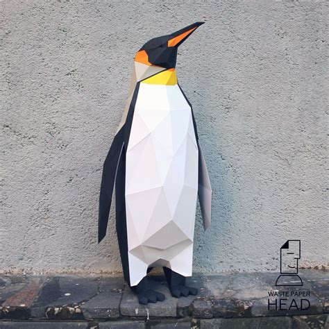 Penguin Papercraft - papercraft penguin printable diy template from
