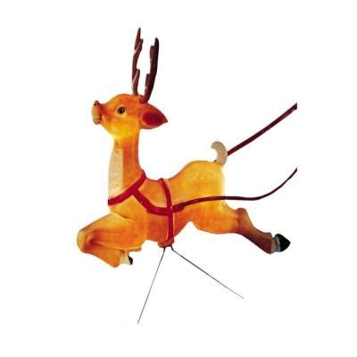 general foam plastic reindeer with antlers upc 029033180527 general foam ornaments decor 19 in reindeer statue with antlers