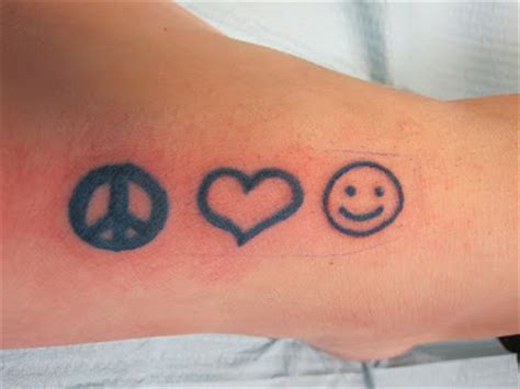 peace love and happiness tattoo astoetie s peace happiness tattoos