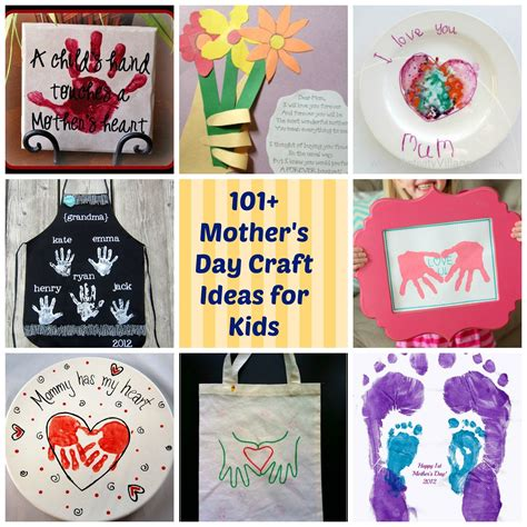 ideas for mothers day 101 mother s day diy craft ideas for kids