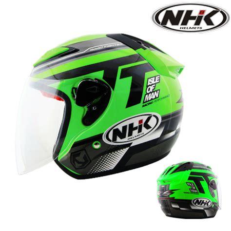 Helm Nhk Kualitas Terbaik Helm Nhk R6 Rally Black Silver Half helm nhk r6 beyond flourecent pabrikhelm jual helm murah