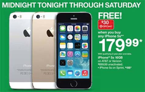 Target Gift Card Sale Black Friday - target black friday deals iphone 5s at 179 plus 30 gift card ipad air at 479 plus