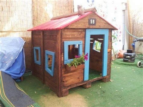 diy playhouse plans wooden pallet kids playhouse plans recycled things