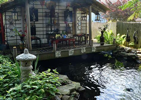 feel transported across the world in backyard tea garden