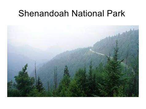 National Park Service Mba Internship by Internship Shenandoah National Park