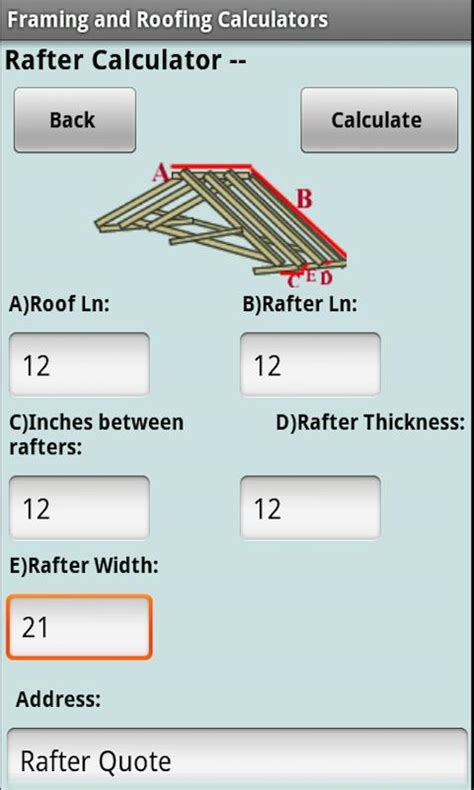 Roof Replacement Calculator Framing Roofing Calculators Android Apps On Play