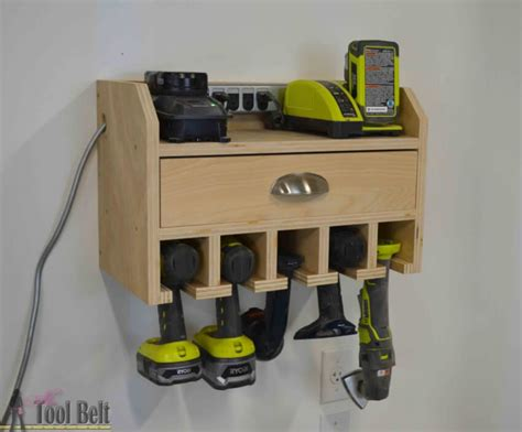 how to make a charging station 14 power tool storage ideas so you never lose them again