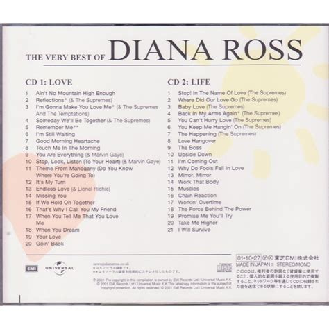 Cd Diana Ross The Greatest 2cd the best by diana ross cd x 2 with