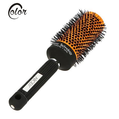 curly hair brush over styles abody ceramic nylon round hair brush salon curly hairbrush