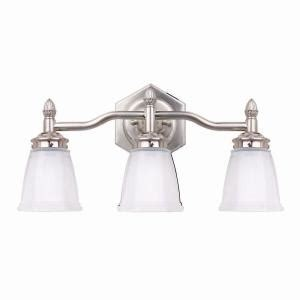 hton bay 3 light brushed nickel bath light
