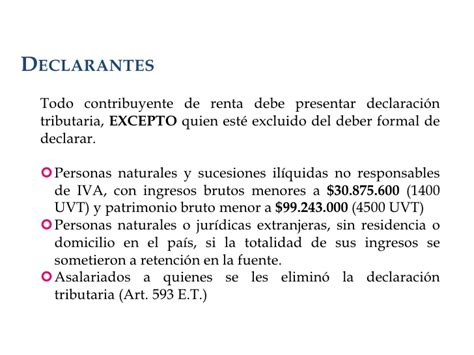 quien debe declarar renta en colombia en el 2016 presentacion retefuente renta 2009