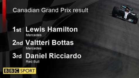 lewis hamilton wins in canada for sixth time bbc sport