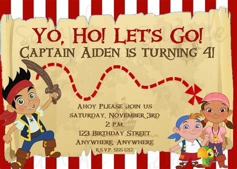 free jake and the neverland birthday invitations eysachsephoto