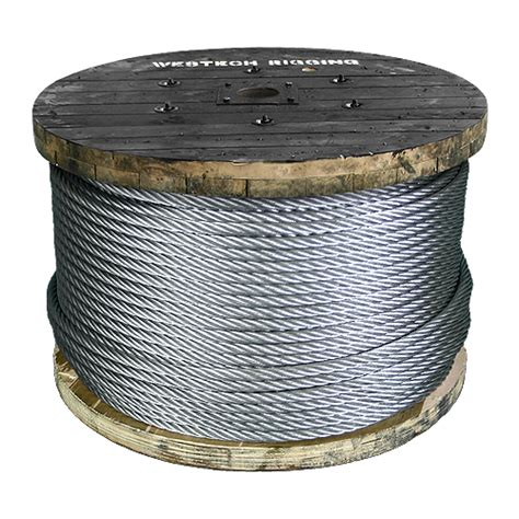 3 8 wire rope strength 3 8 quot 7x19 x 500 ft galvanized aircraft cable 14400 lbs breaking strength