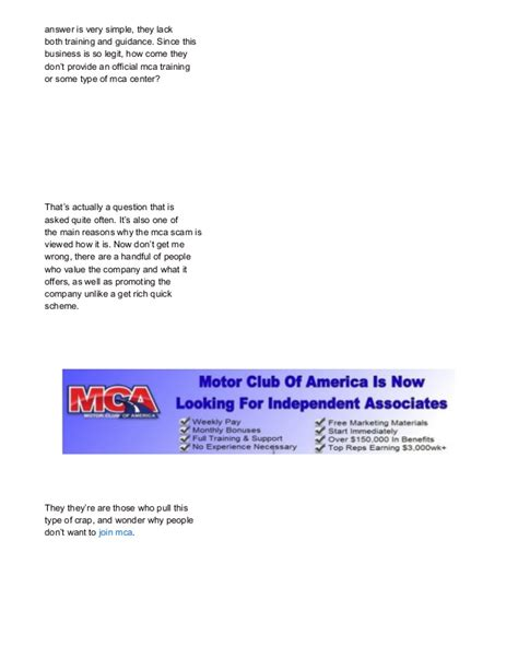 mca work from home scam breakdown