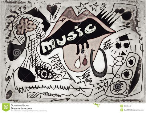 doodle song doodle paper background stock photography