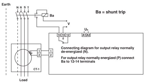 earth leakage relay circuit diagram wiring diagram gw