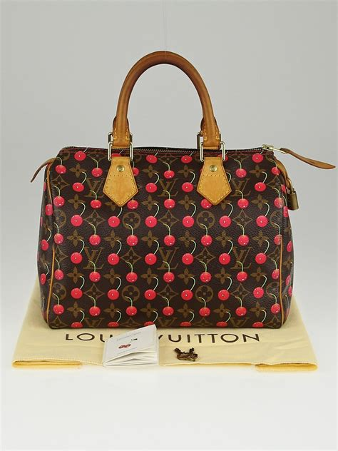 Lv Single Bag New Edition 036 louis vuitton limited edition monogram cerises speedy 25