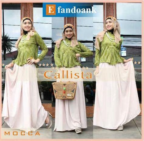 Calista Syar I callista by efan mocca baju muslim gamis modern