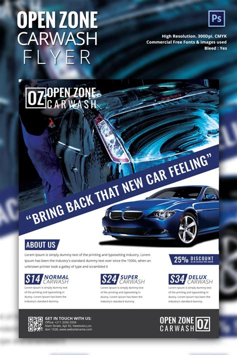 auto detailing flyer template car wash flyer flyer free invitation template word
