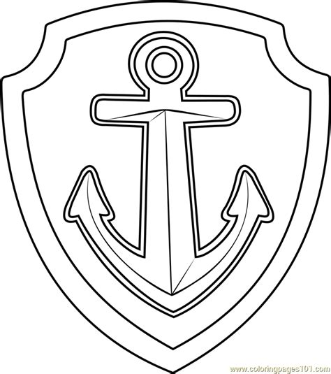 badge coloring page captain badge coloring page images