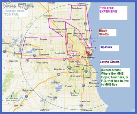 milwaukee on map milwaukee metro map toursmaps