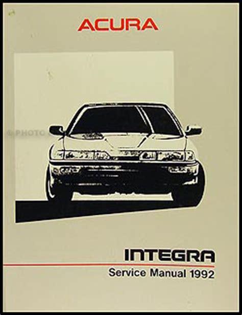 1992 acura integra repair shop manual original