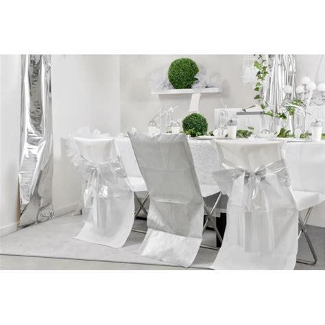 housse de chaise blanche intiss 233 opaque les 8