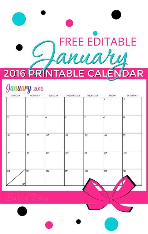 free blank online calendar january 2016 january 2016