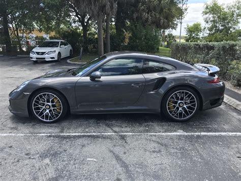 grey porsche 911 turbo 2016 911 turbo s agate grey black rennlist porsche