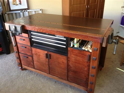 cool work benches eric s stylish workbench assembly table the wood whisperer
