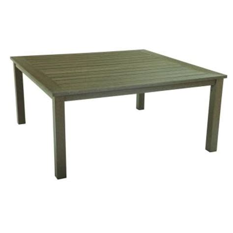 High Patio Dining Table Hton Bay Walnut Creek Durawood 40 In Square Patio High Dining Table Discontinued 2380200000