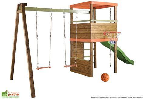 balancoire portique portique balan 231 oire aire de jeux mon am 233 nagement jardin