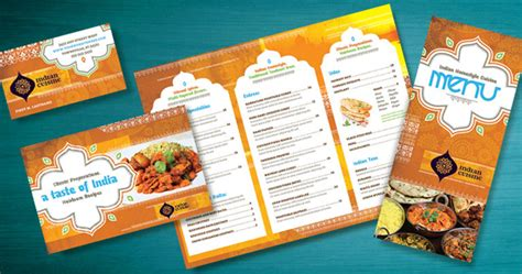 indian restaurant menu template ethnic food 171 graphic design ideas inspiration