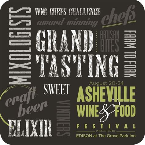 Ticket Giveaway Ideas - posters coasters grand tasting ticket giveaway asheville wine food festival