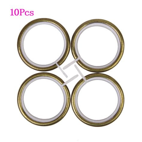 curtains with metal rings 10pcs metal curtain rings for plose under 35mm bronze