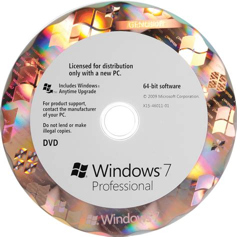 Windows Dvd 7 Original microsoft windows 7 professional 64 bit oem dvd fqc