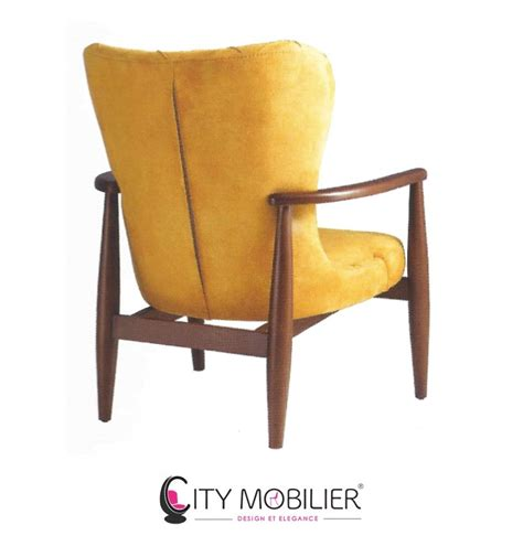 canapé crapaud fauteuil salon orange