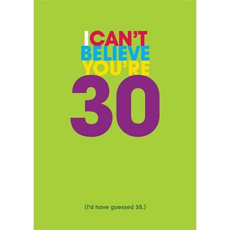 30 Gift Card - 30th birthday cards personalised for husband boyfriend wife